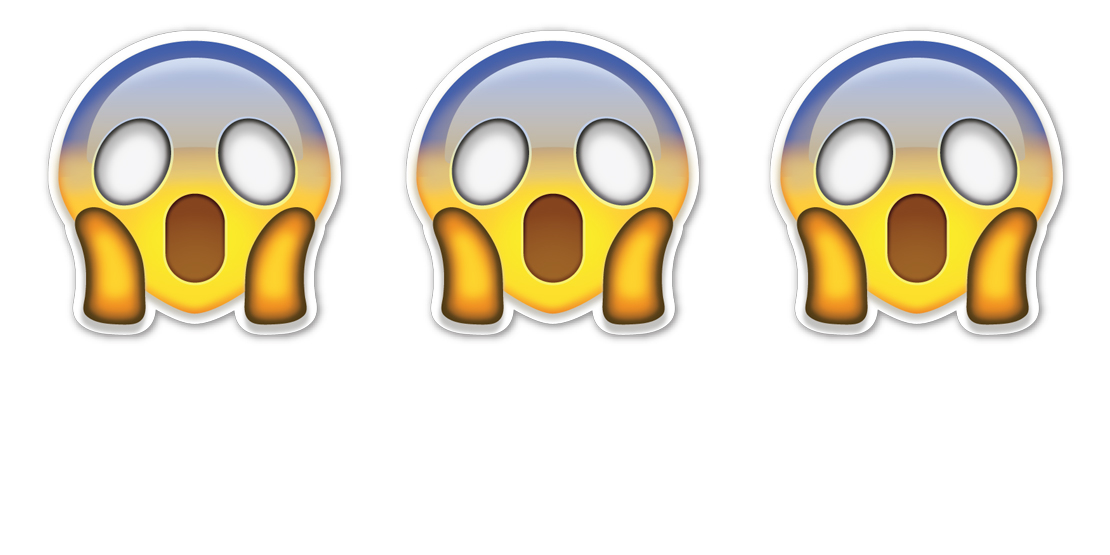 shocked face emoji