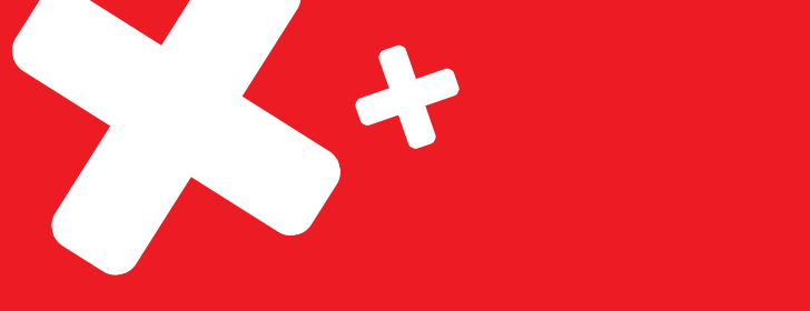 red background with white x's