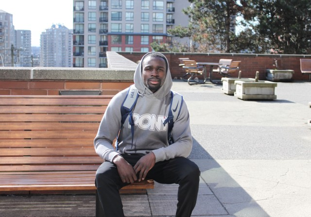 Humans of DC, Humans of Douglas College, student sitting on bench