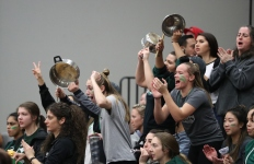 Royals fans cheer for men's basketball team at PACWEST championship