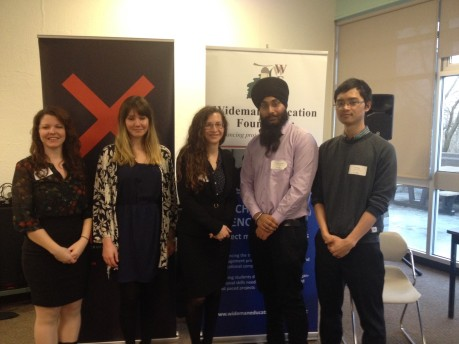 Project Management students pose for photo at competition