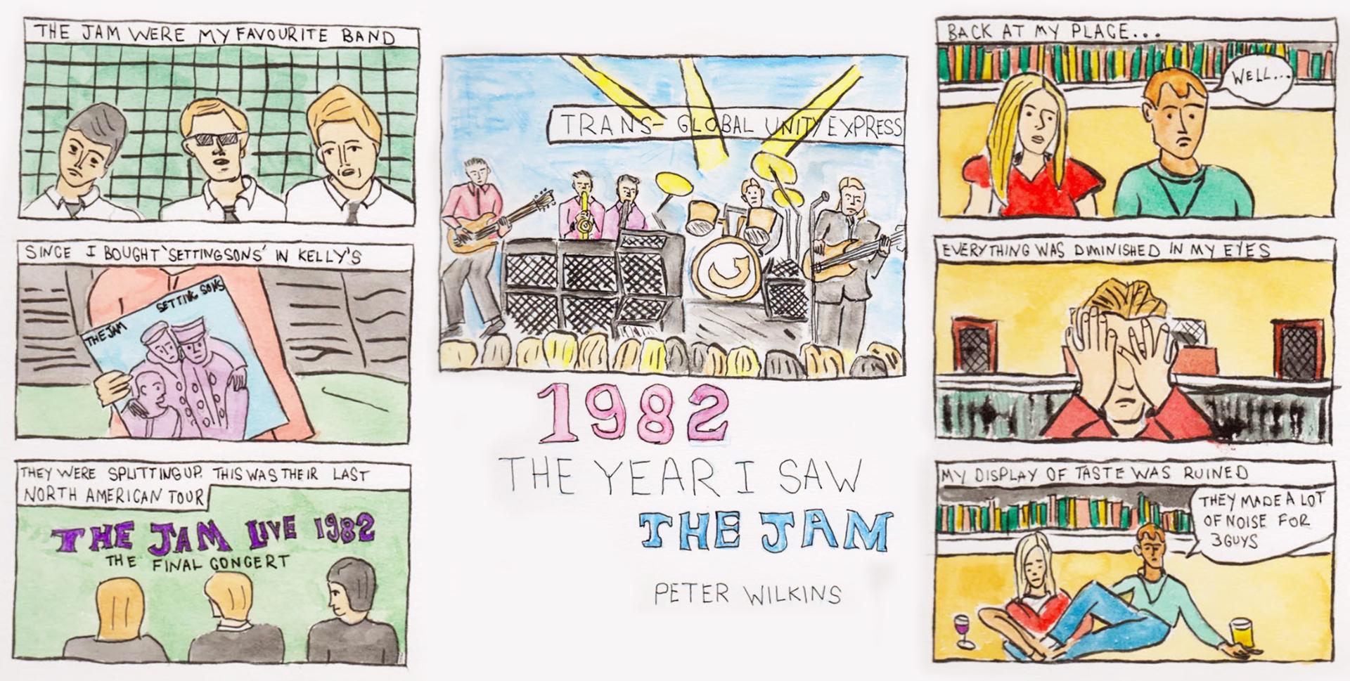 Comics strip by Peter Wilkins