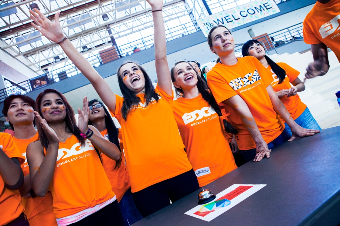 Douglas College students at EDGE at the New Westminster Campus. David Denofreo photo