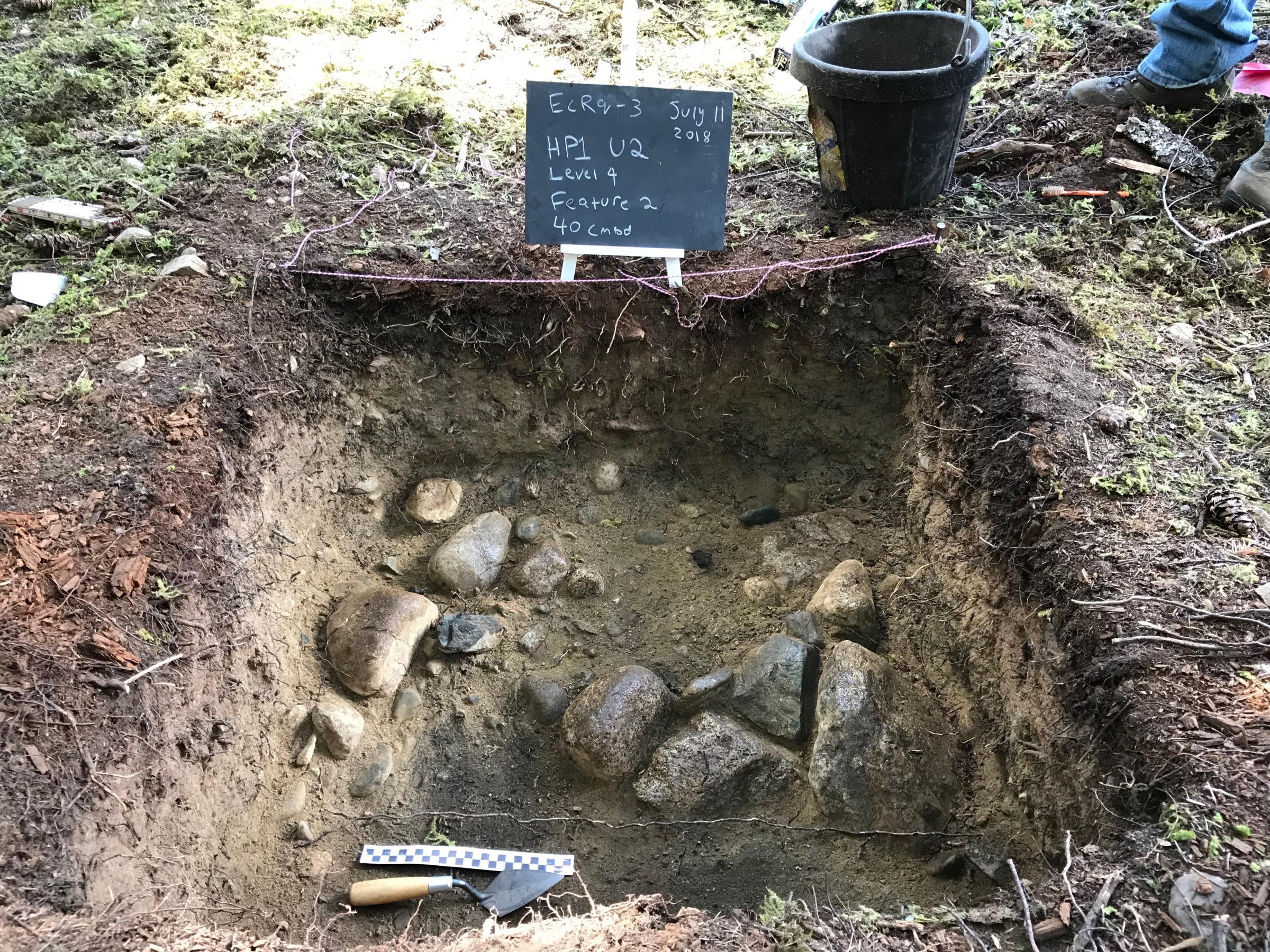 Excavation of Lil'wat people's village near Pemperton, photo by archeology instructor Bill Angelbeck
