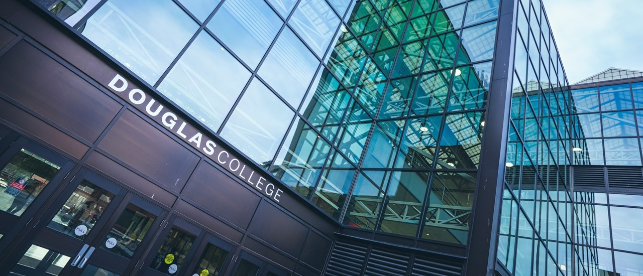 Douglas College entrance sign, photo by David Denofreo
