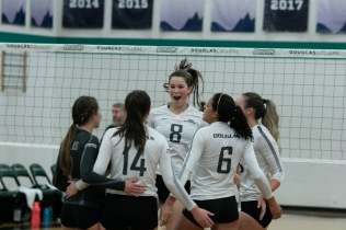 The Douglas College women's volleyball team had a great season, ranking second in the PACWEST for hitting percentage and third in kills per set.